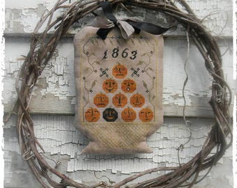 Basket of Jacks - PAPER/Mailed - cross stitch pattern from Notforgotten Farm™