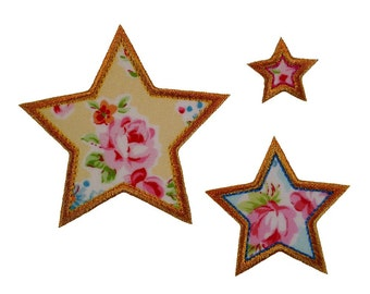 """Seeing Stars Appliques Machine Embroidery Designs Applique Patterns in 11 sizes 1"""" to 6"""" in half inch increments"""