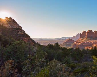 Sedona, Southwest, Red Rock, Sunlight,  Arizona, Landscape Photography, Digital Download
