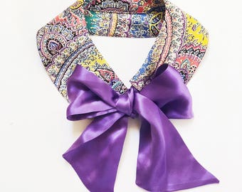 Handmade Fashion Silk Bow Tie collar  Exotic  Prints