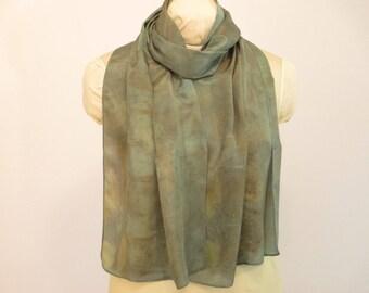 """Eco Fashion Indigo-Schal - Geschenk für ihre - Seidenschal - HA14121715 - ca. 14 """"x 70"""" (35 x 178cm)"""