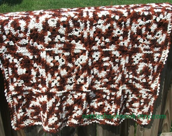 Brown Afghan or lap afghan