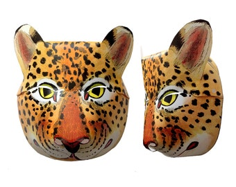 Printable Animal Mask Halloween Mask  DIY Costume Paper Mask Cheetah Cat Leopard Kids Adults Family Group Costume DIY Instant Download
