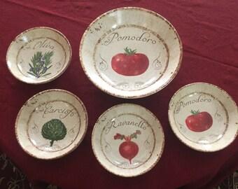 Certified International Pomodoro Pasta Bowl Set