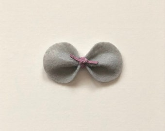 Gray Original Rounded Felt Bow