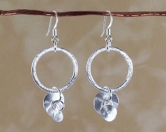 Dangly Chic Earrings, Mixed metal earrings, Silver earrings, Dangly earrings, Copper earrings, Gold earrings, Hoop earrings