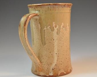 16oz Beer Mug, tankard, gift for dad, pottery beer mug, ceramic beer mug, ceramic tankard, big coffee mug