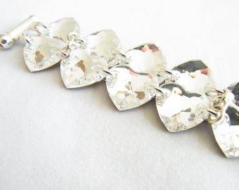 Heart bracelet, made WITH SWAROVSKI® element