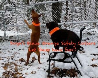 Blaze Orange Fleece Collars