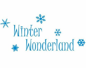Winter Wonderland Decal, Snowflake Decor, Snowflake Decal, Winter Decals, Winter Decor, Christmas Decals, Decals for Women, Christmas Decor