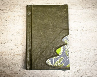Green Leather Hand Bound Notebook