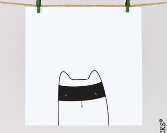Woolocks® Cats'n'Robbers' Card - Ninja cat card - Cat Christmas Card - card for cat lover - animal greeting card - quirky card - funny card