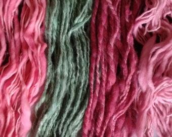 Single Ply Bulky Chunky Merino Yarn Hand Dyed Mini Skein