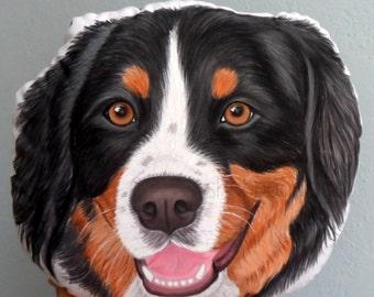 Custom Dog Portrait  Pillow,  Australian Shepherd pillow , Personalized  gift for pet lovers, gift for dog lovers, dog lover gifts, dog dad