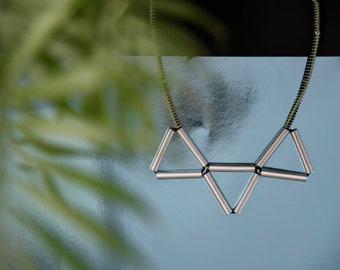 Triangle/ Minimalist Necklace/ Geometrical Necklace / Modern Necklace /Metal Necklace/ Gift for Architect / Handmade Necklace/