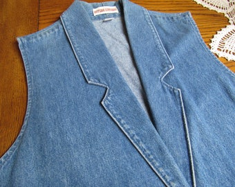 DENIM VEST, Gotcha Covered Vintage Vest