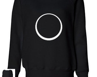 Eclipse Moon Circle Sweatshirt Black Women's