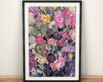 Flowers Printable Poster, Flowers Wall Art & Flowers Home Decor, Instant Digital Download