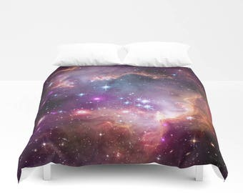 Duvet Cover, Nebula Galaxy Bedding Cover, Outer Space Universe Astronomy Cosmos Galactic, Bedroom Decor, Home Decor, King, Queen, Full