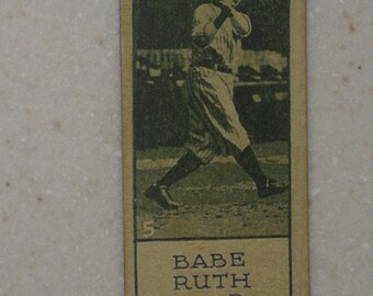 1924 Williard's Chocolate Babe Ruth Card