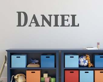Name Wall Decal - Boy Name Decal - Custom Name Wall Sticker - 1