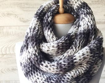 Chunky scarf thick warm knit scarf knit cowl knit scarf infinity scarf gifts for him FAST DELIVERY