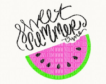 Sweet Summer Time Svg Cut File - Schools Out Svg - Welcome Summer Svg - Baby Svg - Watermelon Svg - Commercial Use