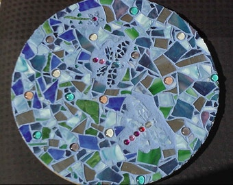 Dragonfly Mosaic Table by DENISE SLOAN
