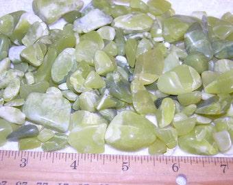 Healerite serpentine all natural 1/8-1 1/2 inch 1/4 pound per lot