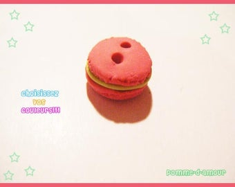 polymer fimo macaroon for sewing spring delicacy button