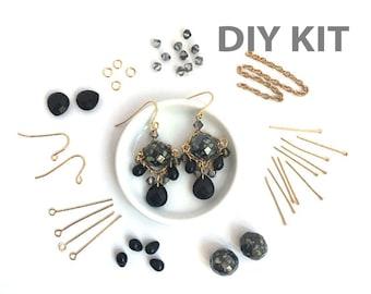 DIY Earring Kit, Jewelry Making, Beading Kit, Bead Kit, Dangle Bead Earring, Victorian Earring, EP005