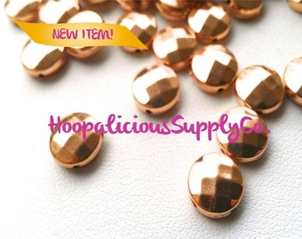 25pc RARE Vintage Faceted Spacer Beads in Gold. Other Quantities Available. Fast Shipping w/Tracking included for US Buyers.