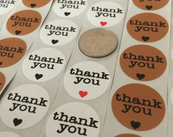 100 Thank You Stickers