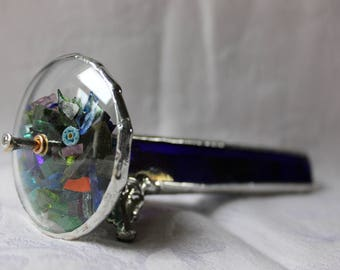 Cobalt Blue Stained Glass Kaleidoscope
