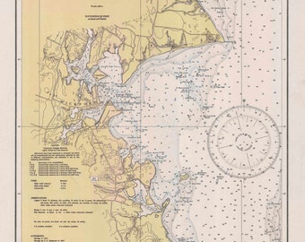 Wickford Harbor  RI - 1935 Nautical Map by the USCGS - Reprint Harbors 357