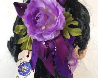 Purple Dusk Fascinator Clip