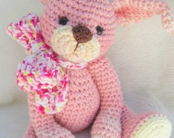 Crochet Pattern Huggable Bunny by Teri Crews instant download PDF format Crochet Toy Pattern