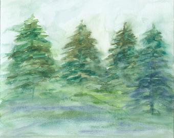 Print - Oregon Evergreens