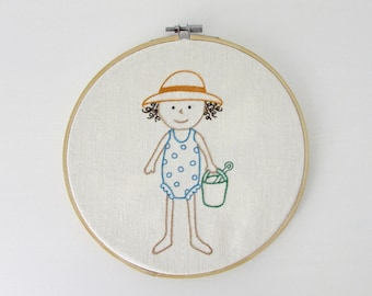 Hand embroidery pattern - Summertime embroidery - PDF - Instant download