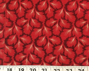 Cotton Fabric / Red Cotton Fabric / Red Abstract Cotton Fabric / Red Quilting Cotton Fabric / Vintage Cotton Fabric / Retri Cotton Fabric