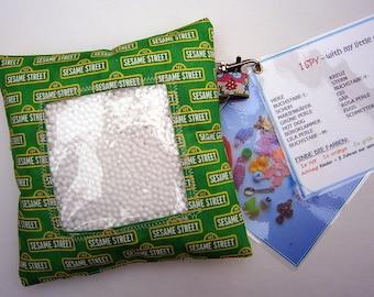 Sesamstrasse I Spy bag,Bibo,Suchsäckchen,Suchkissen,Ergotherapie,Suchsack, Spiel, Kinder