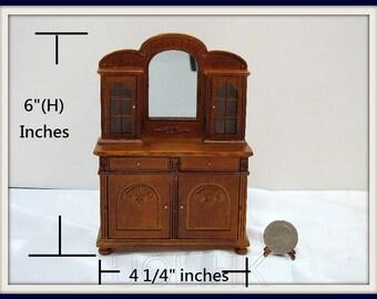 Miniature 1:12 Scale Doll House Cupboard [Finished in walnut]