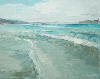 Bear Lake Waves-  print on cavas  8x10