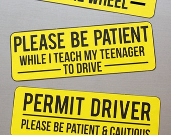 Magnetic Car Sign for Teen Drivers
