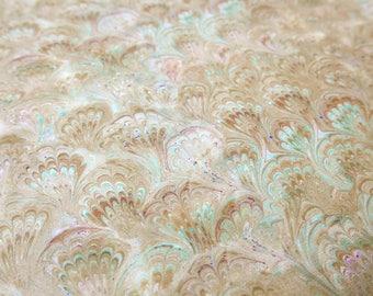 Paper marbling 48 x 68 cm inkjet shore tradition 120 grams - 3