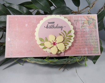 Birthday Money Holder -- Money Holder for Female -- Money Holder -- Birthday Money Gift