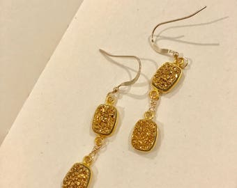 Druzy earrings on 14k gold filled findings