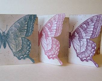 """Greeting card, Wedding card or Thank You card """"Soft Butterfly"""""""