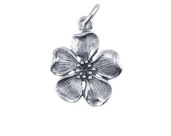 Sterling Silver Cherry Blossom Charm