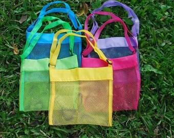 Sea Shell Bag, Shell Collecting Bag, Personalized Shell Bag